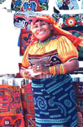 A Cuna Lady the San Blas Island in Panama CentralAmerica