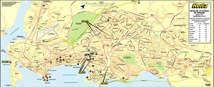 Panama City Maps