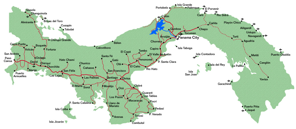 Mapa de Panama | Metro Map | Bus Routes | Metrobus Way Map | Train ...