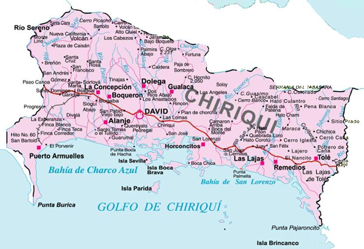 Mapa de Chiriqu�